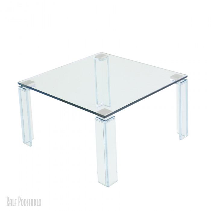 Couchtisch 70x70cm - Glasbeine