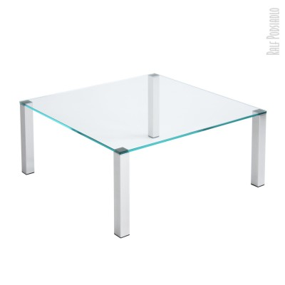 Couchtisch CUB-OUT H42 90x90cm helles Glas (Optiwhite)